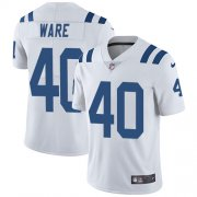Wholesale Cheap Nike Colts #40 Spencer Ware White Men's Stitched NFL Vapor Untouchable Limited Jersey