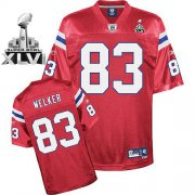 Wholesale Cheap Patriots #83 Wes Welker Red Alternate Super Bowl XLVI Embroidered NFL Jersey