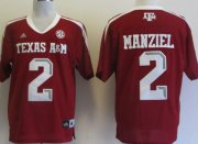 Wholesale Cheap Texas A&M Aggies #2 Johnny Manziel Red Jersey