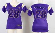 Wholesale Cheap Nike Vikings #28 Adrian Peterson Purple Women's Stitched NFL Elite Draft Him Shimmer Jersey
