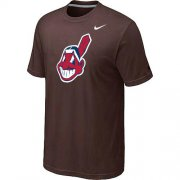 Wholesale Cheap MLB Cleveland Indians Heathered Nike Blended T-Shirt Brown