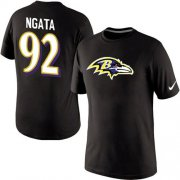 Wholesale Cheap Nike Baltimore Ravens #92 Haloti Ngata Name & Number NFL T-Shirt Black