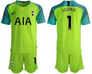 Wholesale Cheap Tottenham Hotspur #1 Lloris Green Goalkeeper Soccer Club Jersey