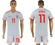 Wholesale Cheap Spain #11 Vitolo Away Soccer Country Jersey