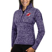 Wholesale Cheap New Jersey Devils Antigua Women's Fortune 1/2-Zip Pullover Sweater Purple