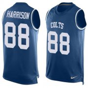 Wholesale Cheap Nike Colts #88 Marvin Harrison Royal Blue Team Color Men's Stitched NFL Limited Tank Top Jersey