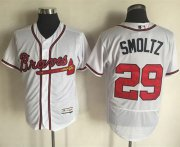 Wholesale Cheap Braves #29 John Smoltz White Flexbase Authentic Collection Stitched MLB Jersey