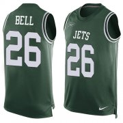 Wholesale Cheap Nike Jets #26 Le'Veon Bell Green Team Color Men's Stitched NFL Limited Tank Top Jersey