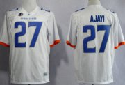 Wholesale Cheap Boise State Broncos #27 Jay Ajayi 2013 White Jersey