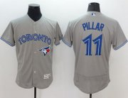 Wholesale Cheap Blue Jays #11 Kevin Pillar Grey Flexbase Authentic Collection Stitched MLB Jersey