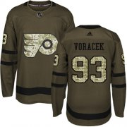Wholesale Cheap Adidas Flyers #93 Jakub Voracek Green Salute to Service Stitched Youth NHL Jersey