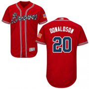 Wholesale Cheap Braves #20 Josh Donaldson Red Flexbase Authentic Collection Stitched MLB Jersey