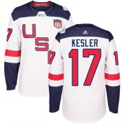 Wholesale Cheap Team USA #17 Ryan Kesler White 2016 World Cup Stitched Youth NHL Jersey