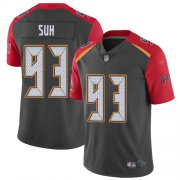 Wholesale Cheap Nike Buccaneers #93 Ndamukong Suh Gray Men's Stitched NFL Limited Inverted Legend 100th Season Jersey