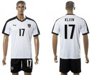 Wholesale Cheap Austria #17 Klein White Away Soccer Country Jersey