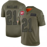 Wholesale Cheap Nike Chiefs #21 Bashaud Breeland Camo Youth Stitched NFL Limited 2019 Salute to Service Jersey
