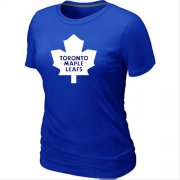 Wholesale Cheap Women's Toronto Maple Leafs Big & Tall Logo Blue NHL T-Shirt