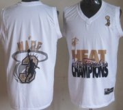 Wholesale Cheap Miami Heat #3 Dwyane Wade 2013 NBA Champions White Fashion Jersey