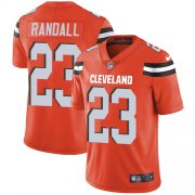 Wholesale Cheap Nike Browns #23 Damarious Randall Orange Alternate Men's Stitched NFL Vapor Untouchable Limited Jersey