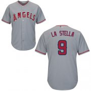 Wholesale Cheap Angels of Anaheim #9 Tommy La Stella Grey New Cool Base Stitched MLB Jersey