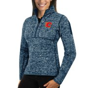 Wholesale Cheap Calgary Flames Antigua Women's Fortune 1/2-Zip Pullover Sweater Royal