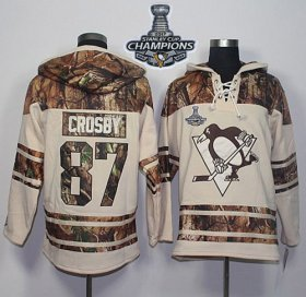 Wholesale Cheap Penguins #87 Sidney Crosby Cream/Camo 2017 Stanley Cup Finals Champions Stitched NHL Jersey