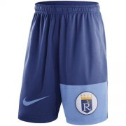 Wholesale Cheap Men's Kansas City Royals Nike Royal Cooperstown Collection Dry Fly Shorts