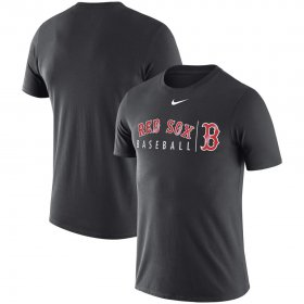 Wholesale Cheap Boston Red Sox Nike MLB Team Logo Practice T-Shirt Anthracite