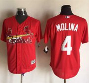 Wholesale Cheap Cardinals #4 Yadier Molina Red New Cool Base Stitched MLB Jersey