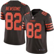 Wholesale Cheap Nike Browns #82 Ozzie Newsome Brown Men's Stitched NFL Limited Rush Jersey
