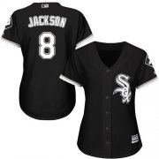 Wholesale Cheap White Sox #8 Bo Jackson Black Alternate Women's Stitched MLB Jersey