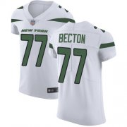 Wholesale Cheap Nike Jets #77 Mekhi Becton White Men's Stitched NFL New Elite Jersey