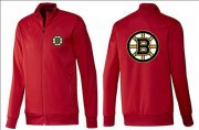 Wholesale Cheap NHL Boston Bruins Zip Jackets Red