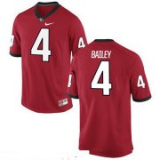 Wholesale Cheap Men's Georgia Bulldogs #4 Champ Bailey Red Stitched College Football 2016 Nike NCAA Jersey