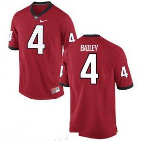Wholesale Cheap Men\'s Georgia Bulldogs #4 Champ Bailey Red Stitched College Football 2016 Nike NCAA Jersey