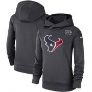 Wholesale Cheap NFL Women's Houston Texans Nike Anthracite Crucial Catch Performance Pullover Hoodie