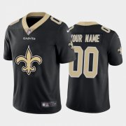 Wholesale Cheap New Orleans Saints Custom Black Men's Nike Big Team Logo Vapor Limited NFL Jersey