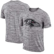 Wholesale Cheap Baltimore Ravens Nike Sideline Legend Velocity Travel Performance T-Shirt Heathered Black