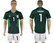Wholesale Cheap Mexico #1 Corona Green Home Soccer Country Jersey