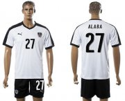 Wholesale Cheap Austria #27 Alaba White Away Soccer Country Jersey