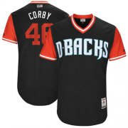 "Wholesale Cheap Diamondbacks #46 Patrick Corbin Black ""Corby"" Players Weekend Authentic Stitched MLB Jersey"