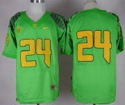 Wholesale Cheap Oregon Ducks #24 Thomas Tyner 2013 Light Green Elite Jersey