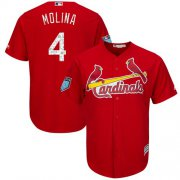 Wholesale Cheap Cardinals #4 Yadier Molina Red 2018 Spring Training Cool Base Stitched MLB Jersey
