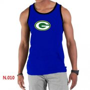 Wholesale Cheap Men's Nike NFL Green Bay Packers Sideline Legend Authentic Logo Tank Top Blue