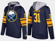 Wholesale Cheap Sabres #31 Chad Johnson Blue Name And Number Hoodie