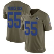 Wholesale Cheap Nike Cowboys #55 Leighton Vander Esch Olive Men's Stitched NFL Limited 2017 Salute To Service Jersey