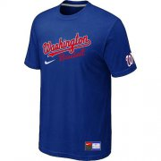 Wholesale Cheap MLB Washington Nationals Blue Nike Short Sleeve Practice T-Shirt