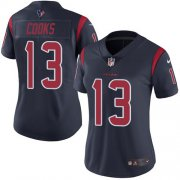 Wholesale Cheap Nike Texans #13 Brandin Cooks Navy Blue Women's Stitched NFL Limited Rush Jersey