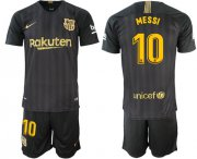 Wholesale Cheap Barcelona #10 Messi Black Soccer Club Jersey