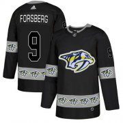 Wholesale Cheap Adidas Predators #9 Filip Forsberg Black Authentic Team Logo Fashion Stitched NHL Jersey
